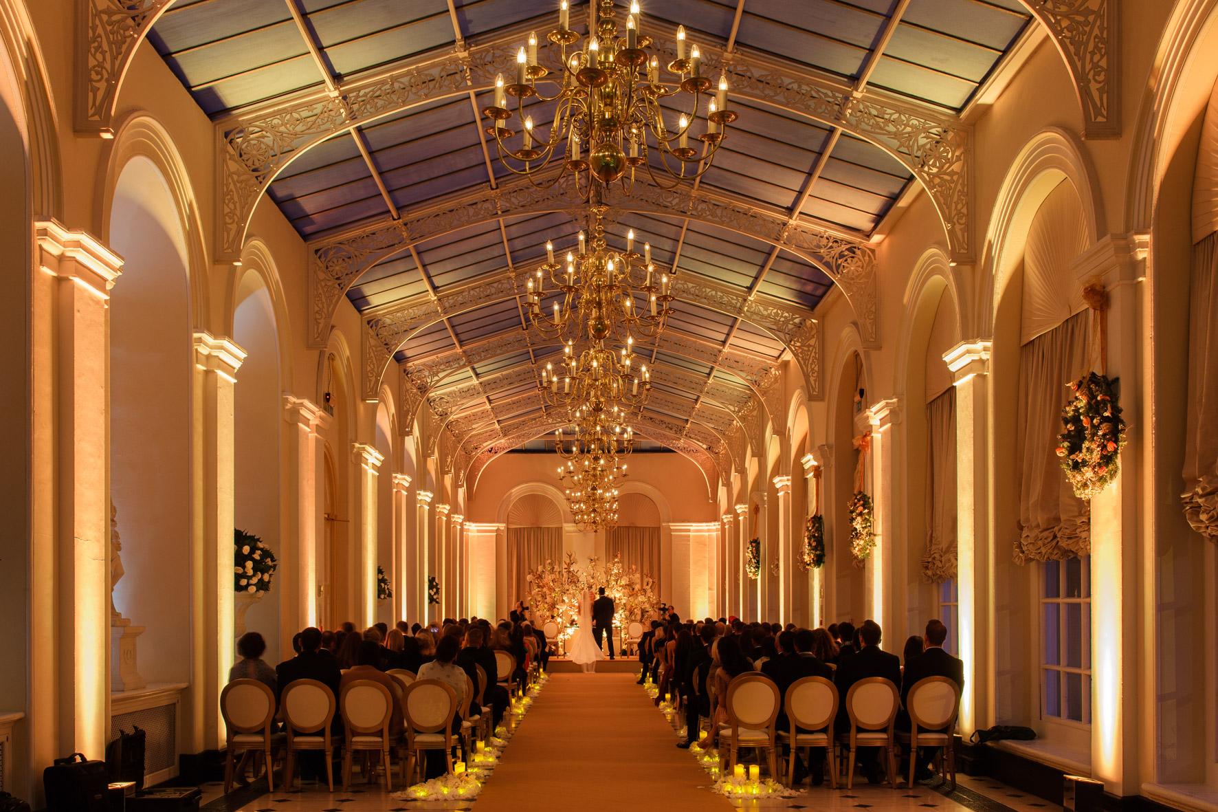 Blenheim Palace winter wedding