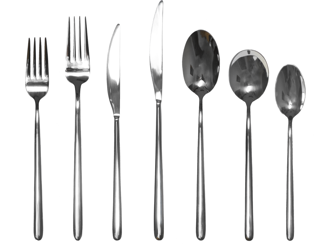 Slim, hand-finished cutlery