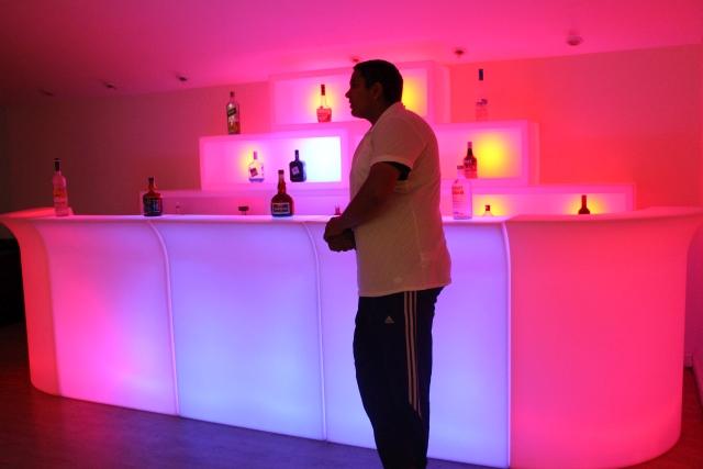 LED Bars At A Venue