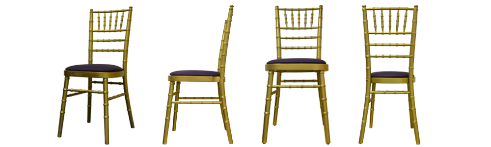 Gold chiavari chairs are a great choice