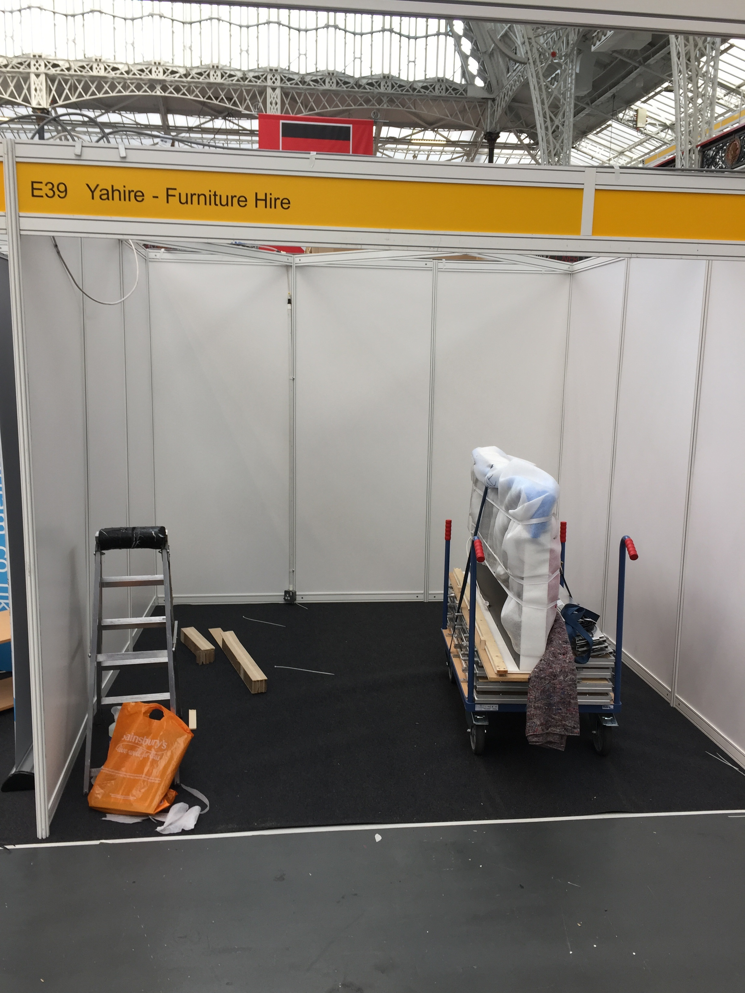 Images of our stand before setup