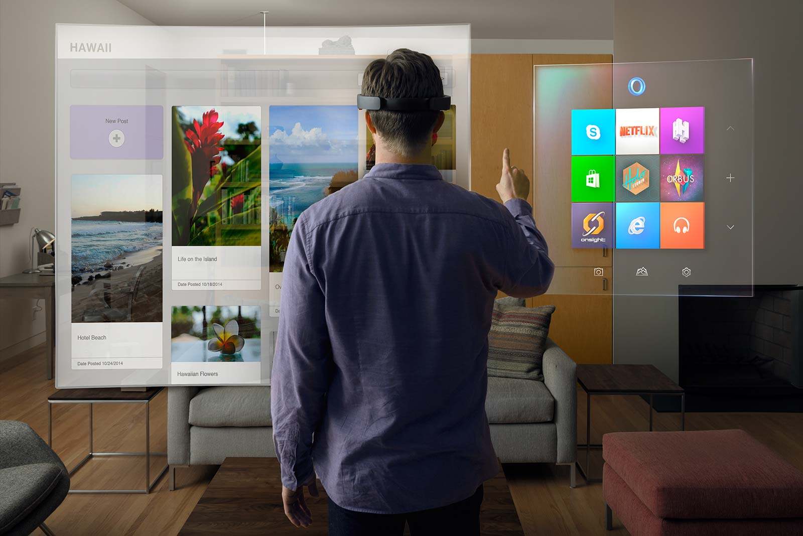The HoloLens offers a new way to interact at events